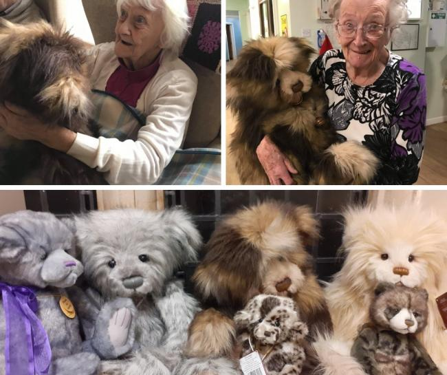 Donated bears make some of their new owners raise smiles