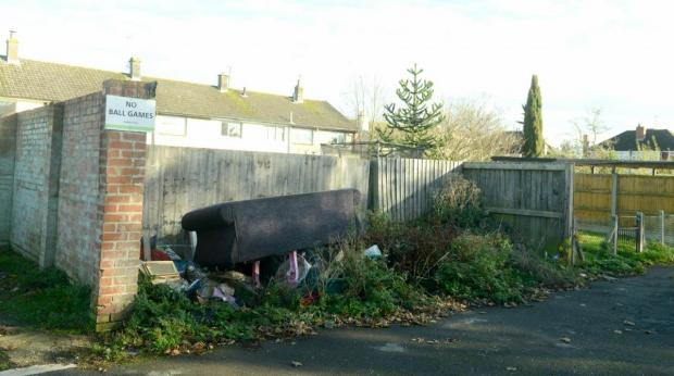 The Wiltshire Gazette and Herald: Flytipping in Calne. Photo by Siobhan Boyle