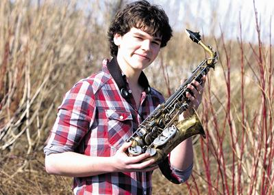 Saxophonist Harry Smith who is heading for the national final of the Rotary Club's Young Musician of the Year