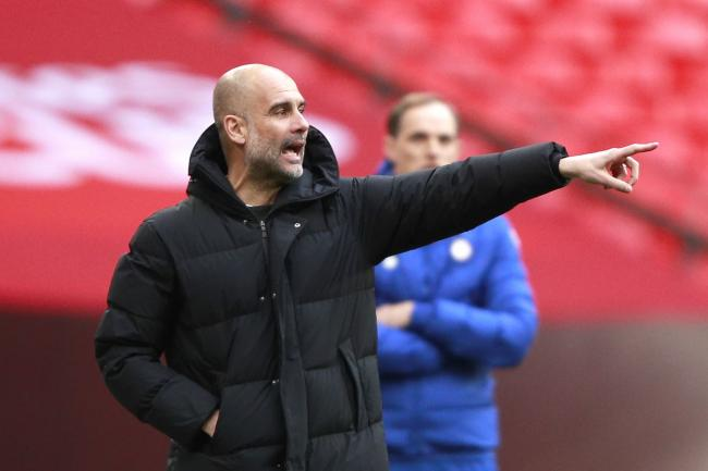 Manchester City manager Pep Guardiola appears uncomfortable with some of the concepts behind the European Super League