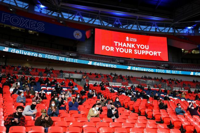 Supporters returned to Wembley for the FA Cup semi-final between Leicester and Southampton.
