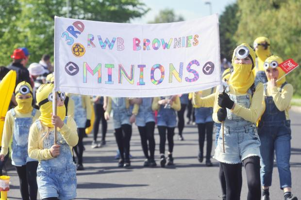 The Wiltshire Gazette and Herald: 3rd RWB Brownies dressed as minions