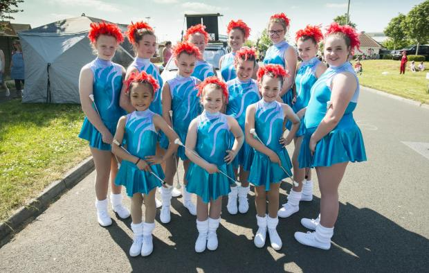 The Wiltshire Gazette and Herald: Girls dressed in gymnastics costumes
