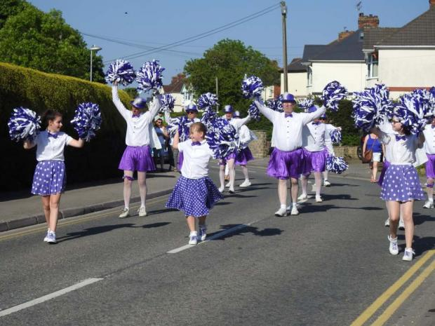 The Wiltshire Gazette and Herald: Cheerleaders at carnival