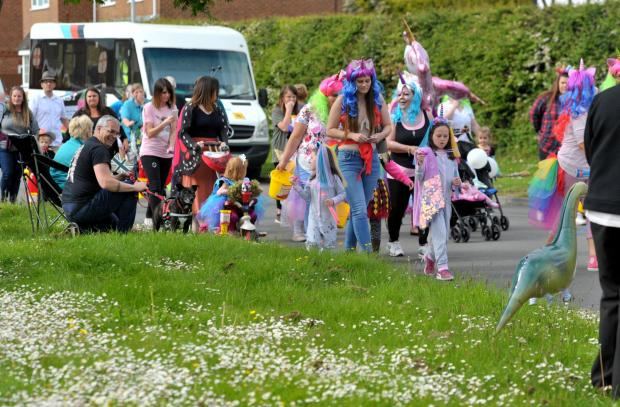 The Wiltshire Gazette and Herald: People dressed up for the carnival