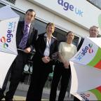 From left, Brian Deeley, chief executive of Age Uk Wiltshire, Alison Davis, PA to Mr Deeley, Maggie Capper, manager of Age UK Chippenham, and Mike Weston, chair of trustees of Age UK