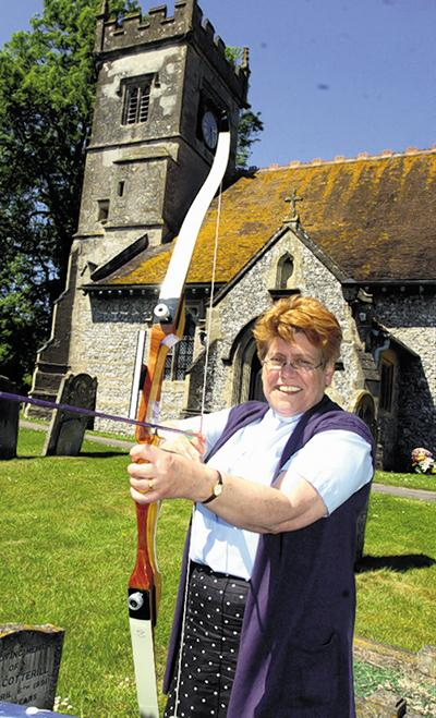 The Rev Mary Edwards wants villagers to take up archery