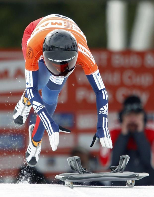 Shelley Rudman was seventh in the opening round at Lake Placid