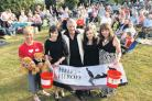 Bruce Hopkins, centre, at last year's picnic musical in Patney. It will be raising cash for Help For Heroes