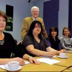 Chairman of governors David Baker with Parents Impact Group members, from left, Ros Huggins, Ellen Moore, Julie Stephens, Kerry Thaine and Heather Greatwood