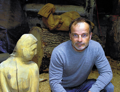 Sculptor Raymond Wirick has lost valuable works and chainsaws