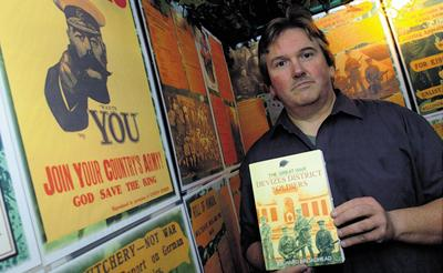 Author Richard Broadhead at the exhibition