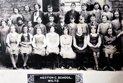 Pupils pictured in 1937. Pat Romang, aged 11, is first right, front row