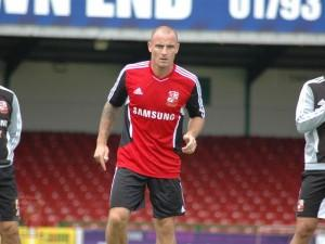 Town's new signing Alan McCormack at the clubs Open Day