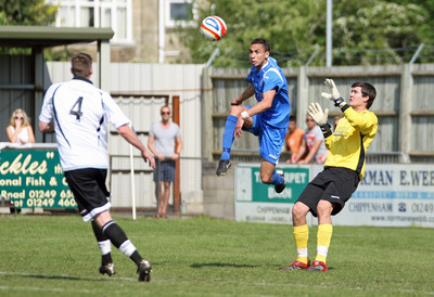 Luke Gullick has returned to Chippenham Town on a short-term basis (Photo: Robin Foster)