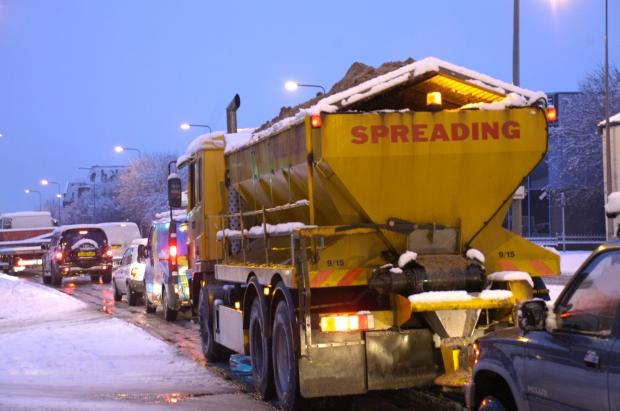 The Wiltshire Gazette and Herald: Gritters will be out in force tonight on Wiltshire's roads