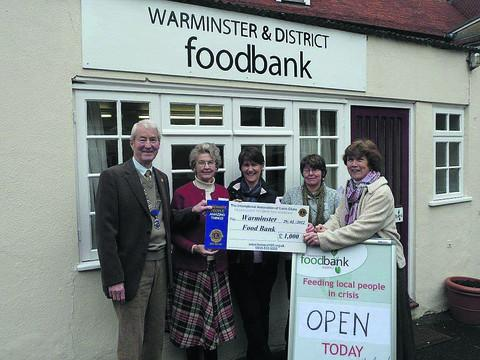 The Wiltshire Gazette and Herald: Volunteers at the Warminster Foodbank, which is supported by the Trussell Trust