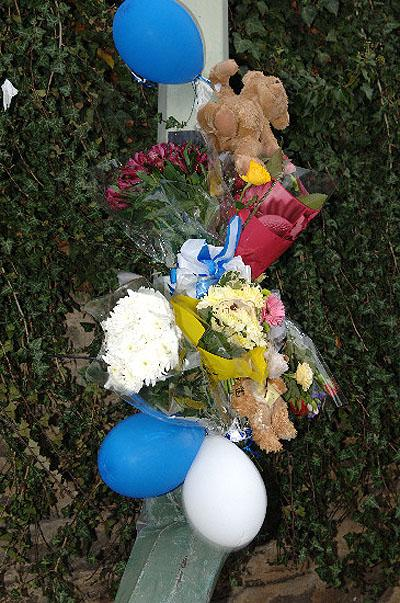 Tributes have been placed at the scene of the accident