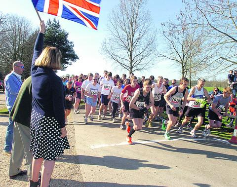Runners at the start of the Bowood 10k on Sunday