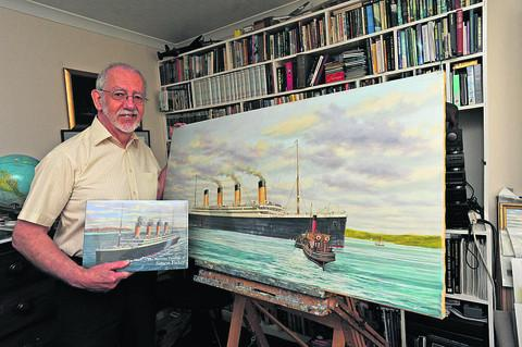 Simon Fisher, who has produced a book of maritime paintings to mark the 100th anniversary of the Titanic sinking