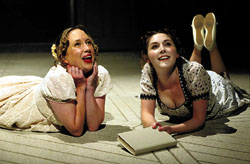 Jenni Maitland and Emma Hamilton as Catherine and Isabella in Northanger Abbey