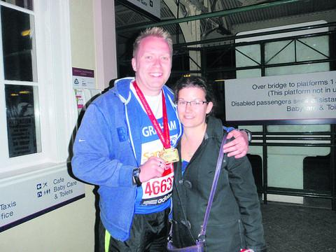 Graham Mansell and his wife Carly ran the London Marathon in memory of their son Toby