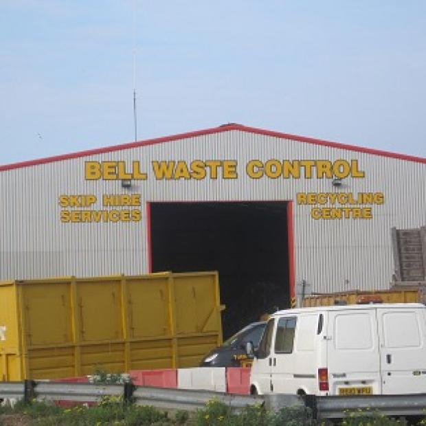 A general view of Bell Waste Control site in Scunthorpe, where the body of a baby was found