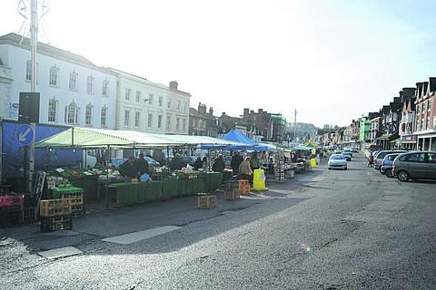 The Wiltshire Gazette and Herald: The Market Place, Marlborough