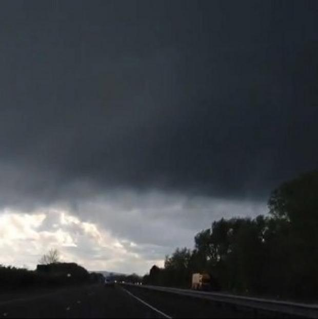 A storm taken from the A34 heading south at Kidlington, Oxfordshire (Richard Glazer/PA)