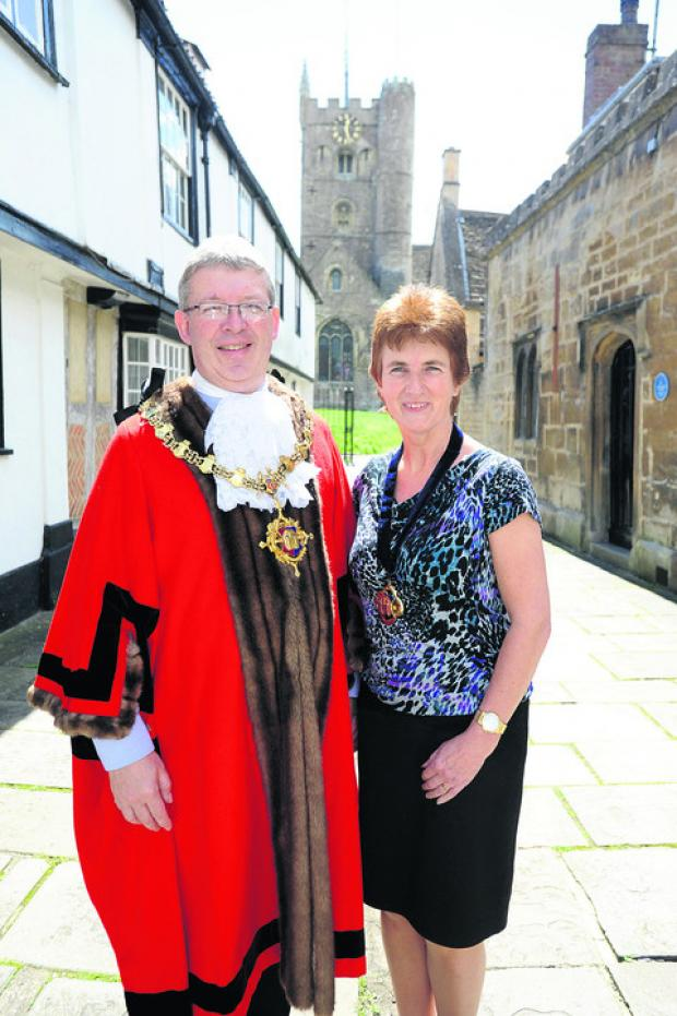 Devizes mayor Kelvin Nash with his wife Pam