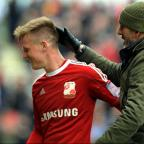 Matt Ritchie receives a pat on the head from boss Paolo Di Canio