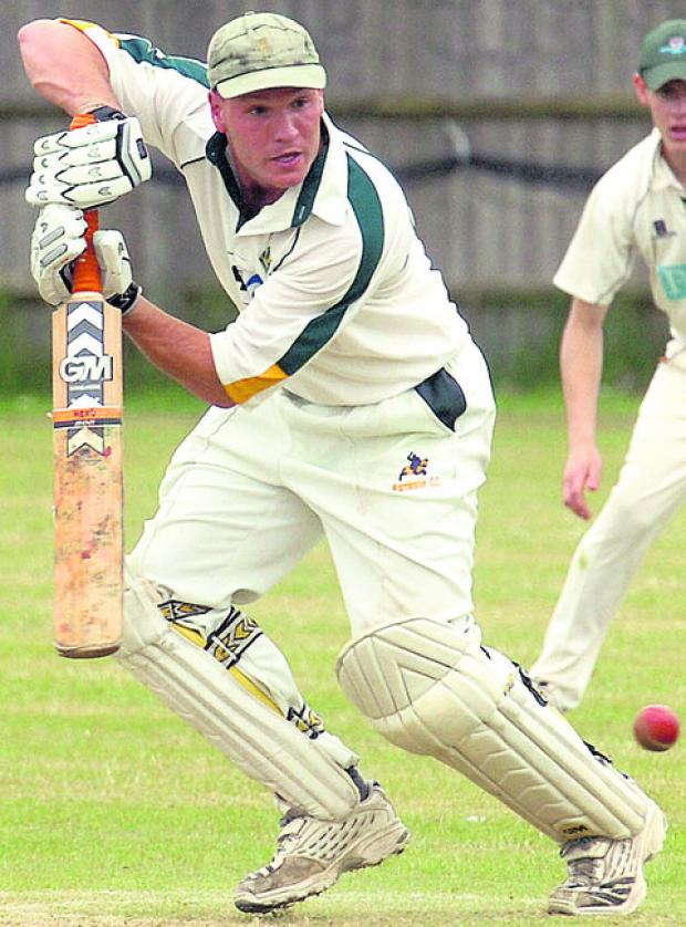 Warminster's Richie Underdown made 91 on day one at Bournemouth