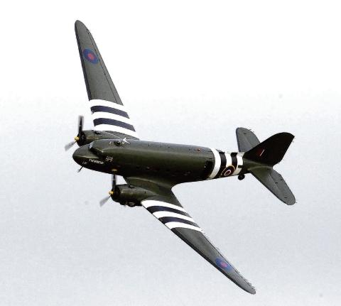 The Wiltshire Gazette and Herald: A Dakota in D-Day livery