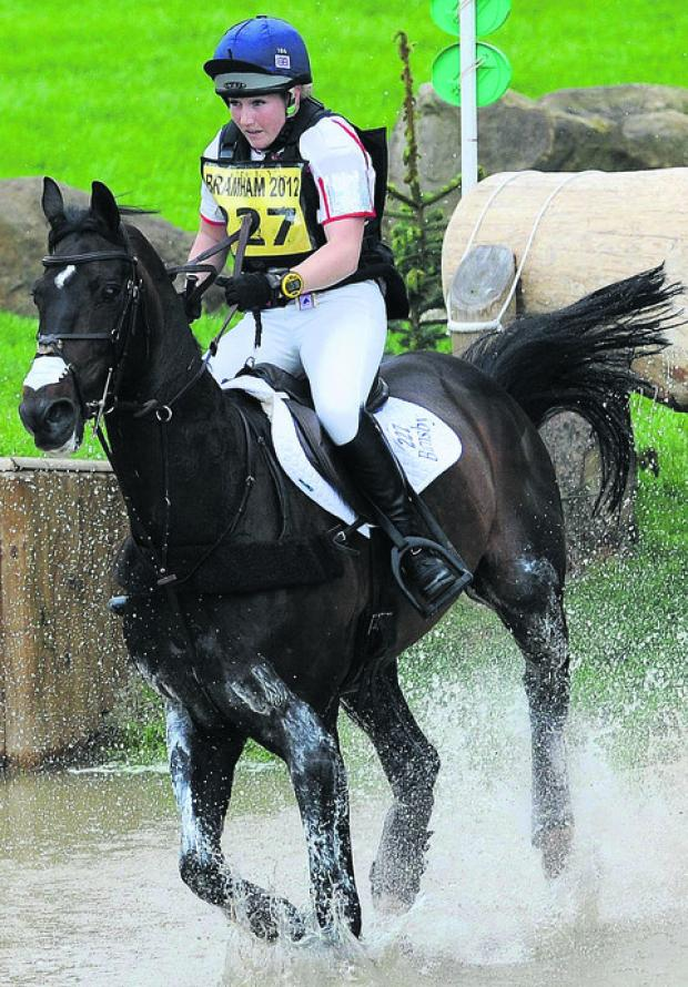 Laura Collett and Rayef at last weekend's trials at Bramham