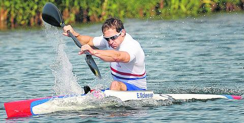 Ed McKeever trains at Eton Dorney this morning