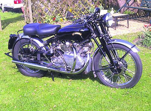 The rare 1949 Vincent White Shadow