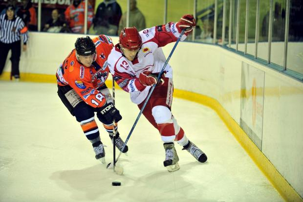 Sam Bullas scored two of the eight Wildcats goals at Slough Jets