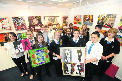 : Students from Pewsey Vale School at Pewsey Gallery and Arts Centre