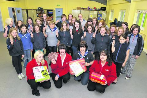 Devizes Guides receive donations from Wilkinson's to buy new equipment for camping