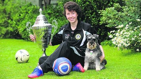 Chelsea-bound Holly Provis, with dog Izzy