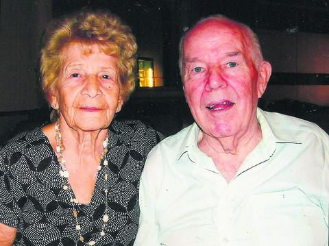 Jean and Dave McVeigh, who have celebrated their diamond wedding anniversary