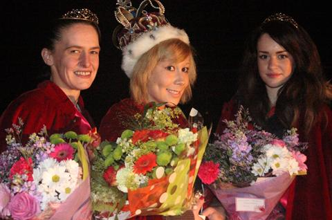 Carnival Queen Sophie Bryant, centre, with attendants Katherine Lofthouse and Jade Nelson