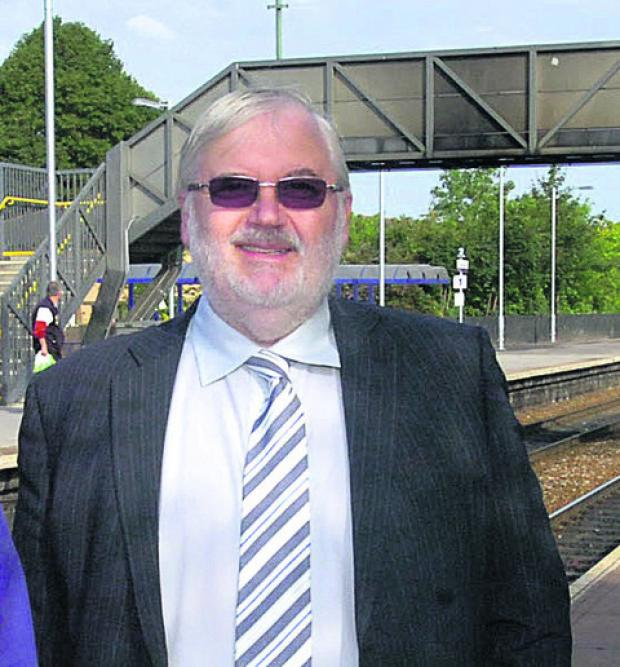 Paul Johnson, chairman of Swindon and Wiltshire's Local Enterprise Partnership, at Trowbridge station