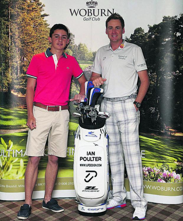 Nick James, with Ryder Cup star Ian Poulter