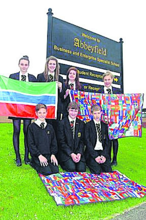 Abbeyfield School pupils chosen to attend the Olympics opening ceremony