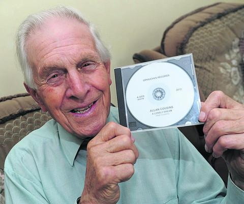 Allan Cousins, 78, with his first single