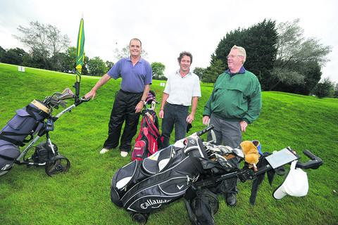 Garry Barlett, Dennis Morgan and Tom Doyle at the charity golf day