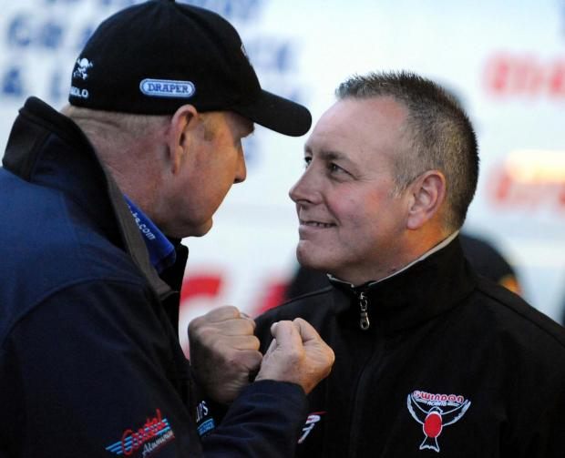 Alun Rossiter, right, goes head to head with Poole boss Neil Middleditch again tonight
