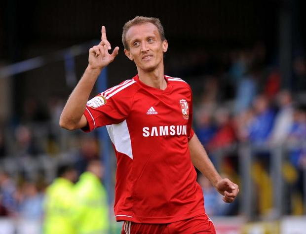 Swindon Town striker Paul Benson