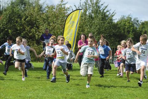 Youngsters are put through their paces at Noremarsh School's fun run
